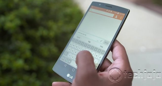 LG G4 review hardware using in hand2