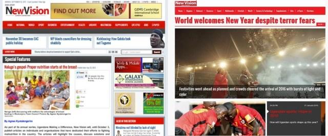 new vision old vs new websites