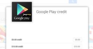 Payway Google Play credit