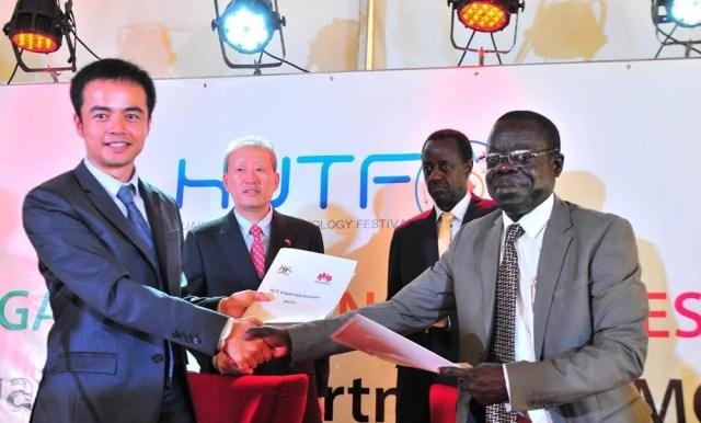 Huawei and ug Govt sign tech MoU
