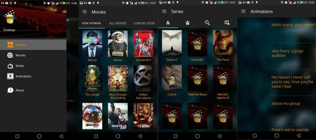 CineApp overview