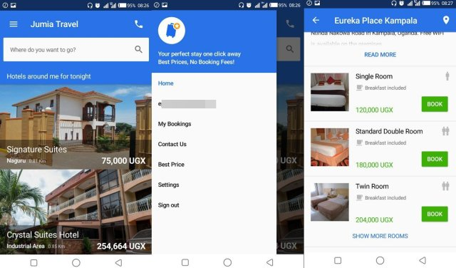 Jumia Travel UI