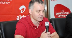 Airtel's MD Anwar Soussa launching Wewole