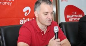 Airtel's MD Anwar Soussa launching Wewole