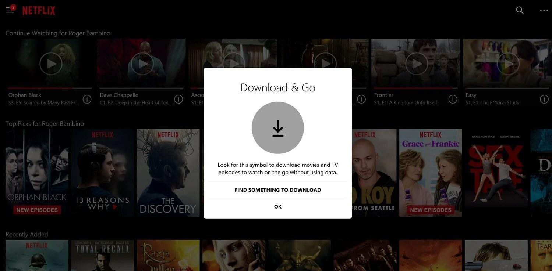 Netflix offline devices