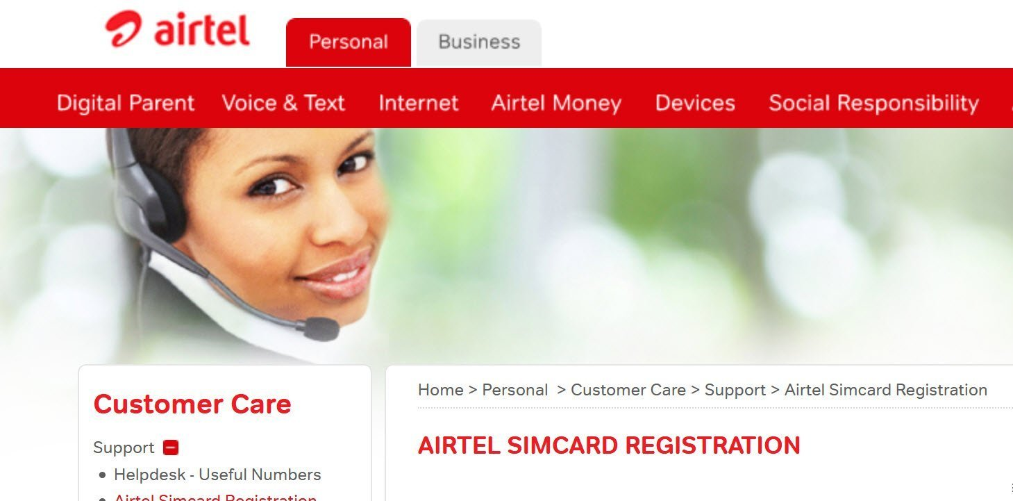 How to update your Airtel Uganda SIM card registration data