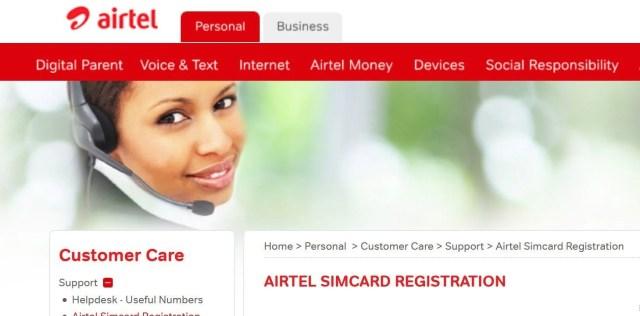 Online SIM registration Airtel