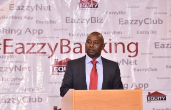 Equity Bank MD eazzy banking launch