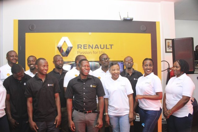 Renault Uganda team and the shell helix team
