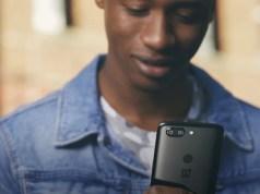 OnePlus black smartphone