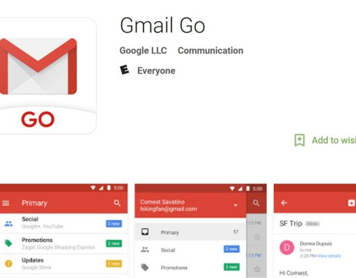 Gmail Go app