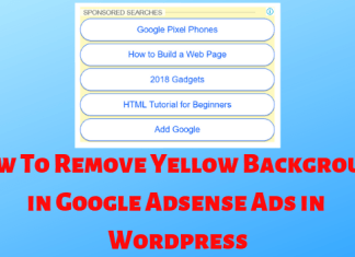 How To Remove Yellow Background in Google Adsense Ads in Wordpress