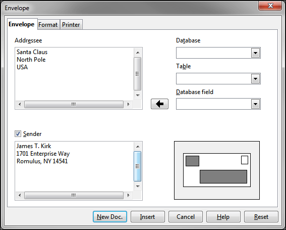 How To Print An Envelope With LibreOffice