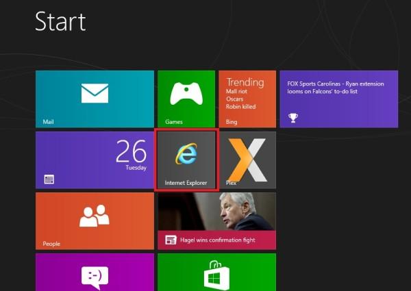 IE 10 Non-Metro Windows 8