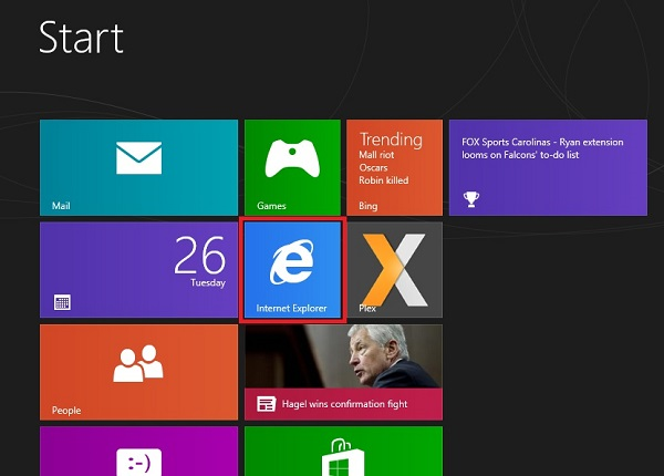 Windows 8 Set IE to Metro Mode