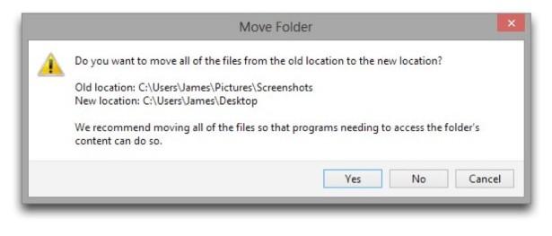 Windows 8 Change Screenshot Folder