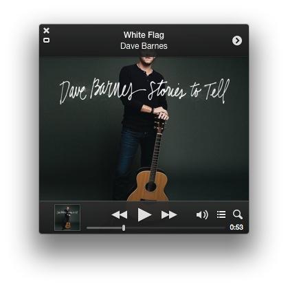 iTunes 11.0.3 Improved MiniPlayer