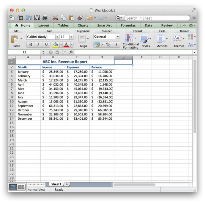 Hide Unused Cells Excel Mac