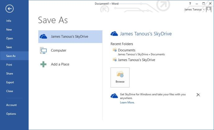 How to Integrate Dropbox into Office 2013