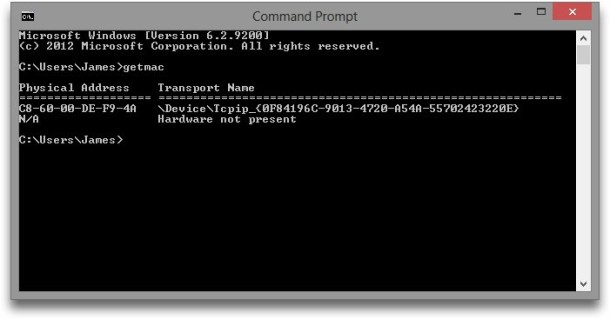 How to Find Your MAC Address in Windows & OS X