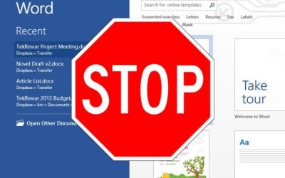 Office 2013 Start Screen