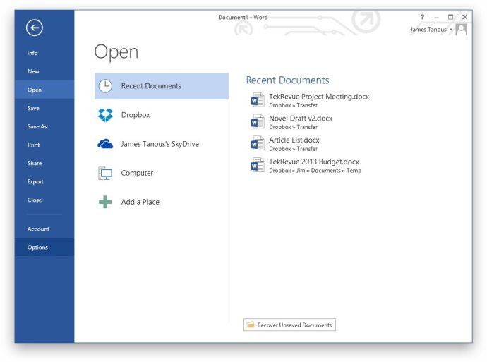 How to Bypass or Disable the Office 2013 Start Screen