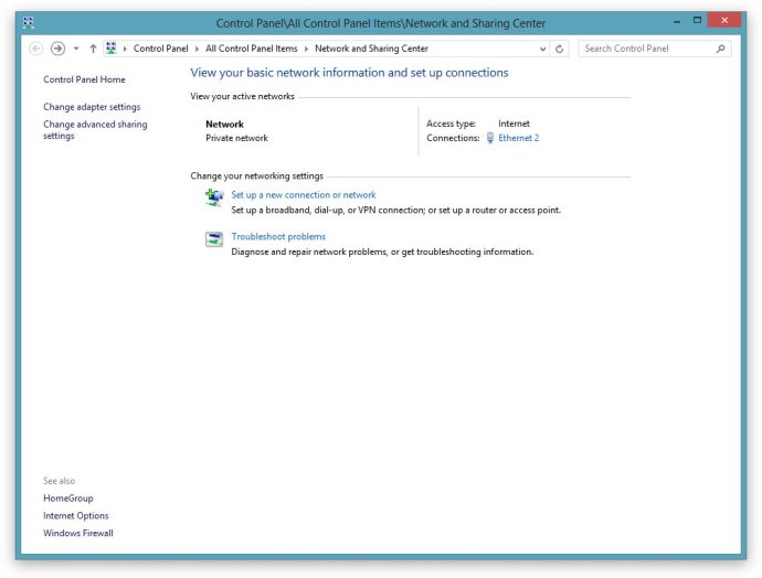 How to change network location Windows 8