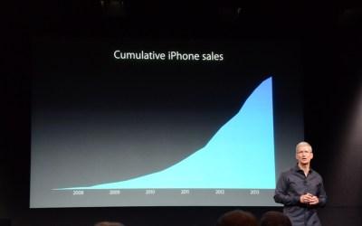 Tim Cook Cumulative iPhone Sales