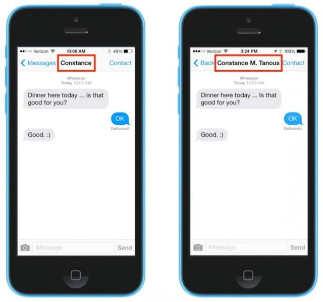 iOS 7 Disable Short Names