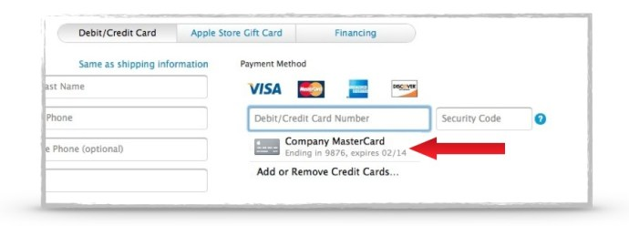 How to Manage Stored Credit Cards in iCloud Keychain