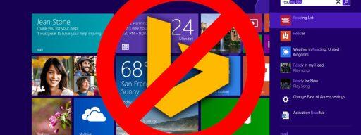 Disable Bing Windows 8.1 Search