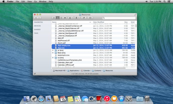Change Calendar Icon OS X