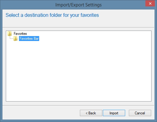 IE Import Bookmarks From Another Browser