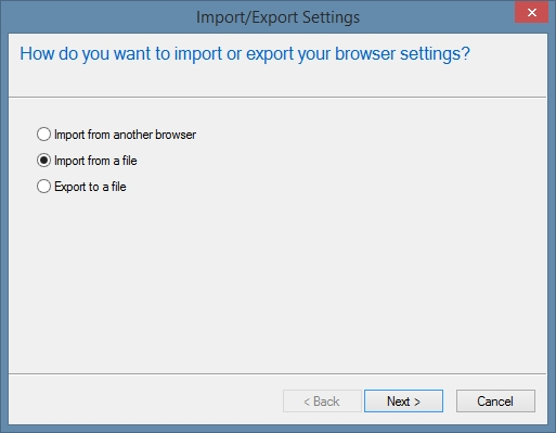 IE Import Bookmarks from File
