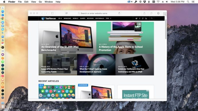 OS X Yosemite Light Mode
