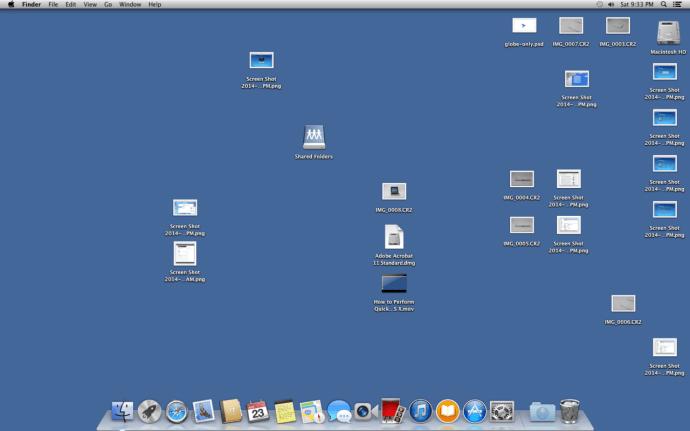 Messy Desktop OS X