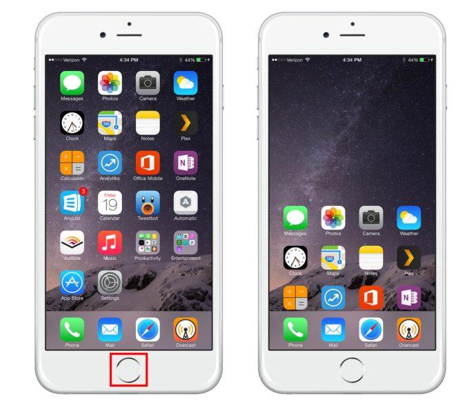 iPhone 6 Reachability Home Screen