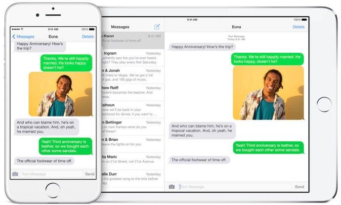 iOS SMS Relay