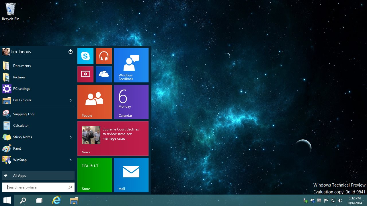 How To Switch From The Start Menu To The Start Screen In Windows 10