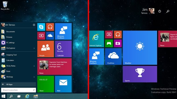 How to Switch from the Start Menu to the Start Screen in