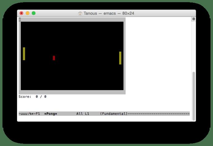 emacs-pong