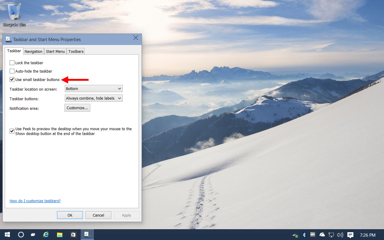 How To Shrink Or Hide The Windows 10 Taskbar Search Box