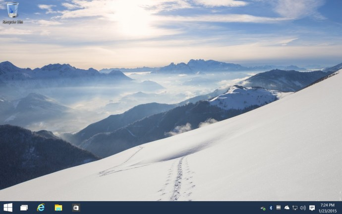 windows 10 taskbar search hidden