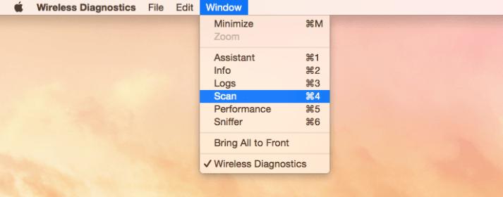 How To Open The WiFi Analyzer Scanner On Mac OS X Yosemite