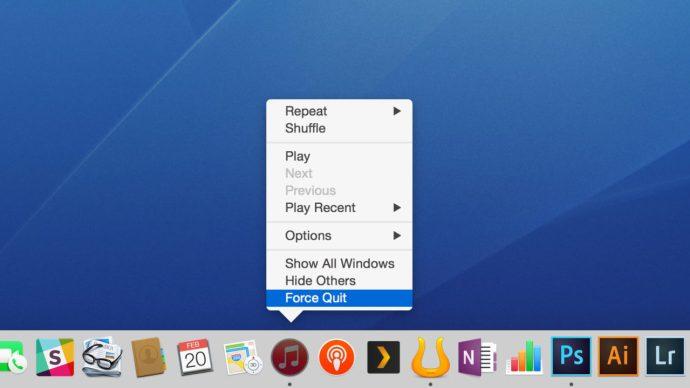 force quit app via os x dock