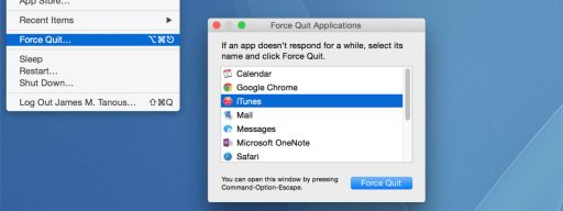 os x force quit menu