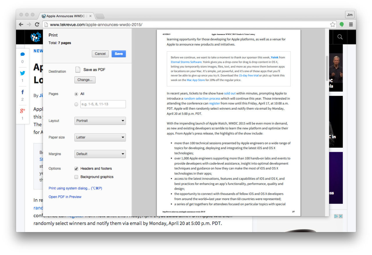 How to Force Chrome to Use the Standard OS X Print Window