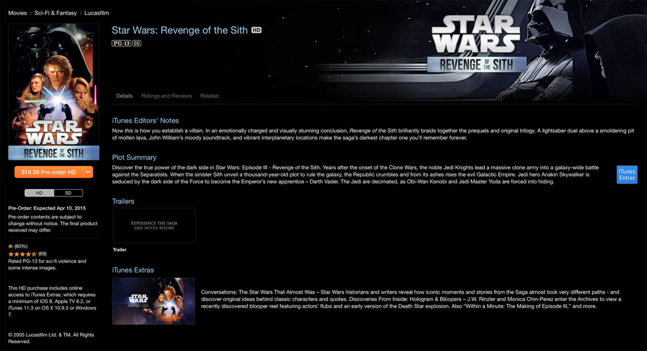 Where is the Best Place to Buy the Star Wars Digital HD