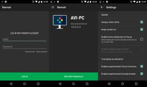 Screenshot of the Remotr Mobile App