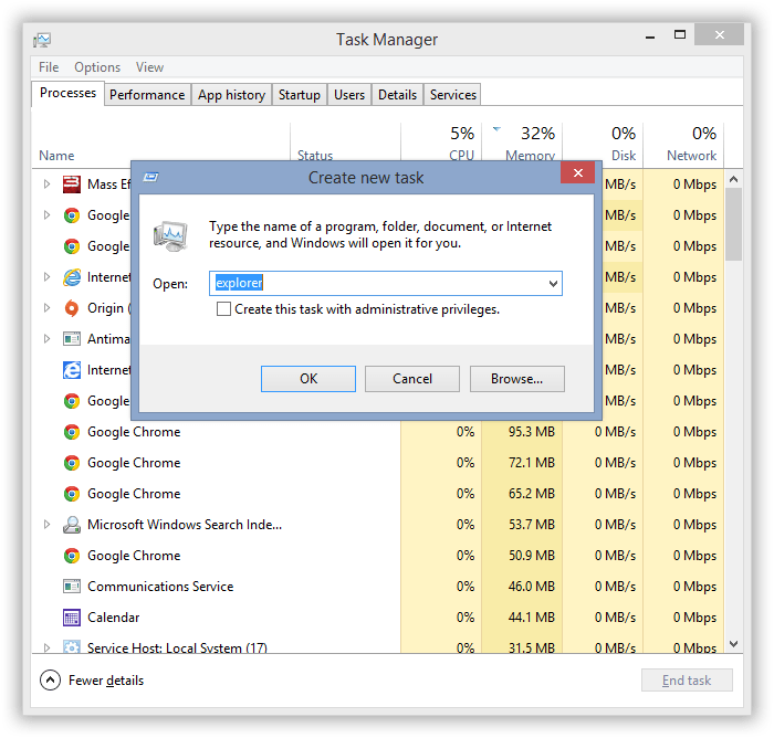 How to Quit and Relaunch Windows Explorer